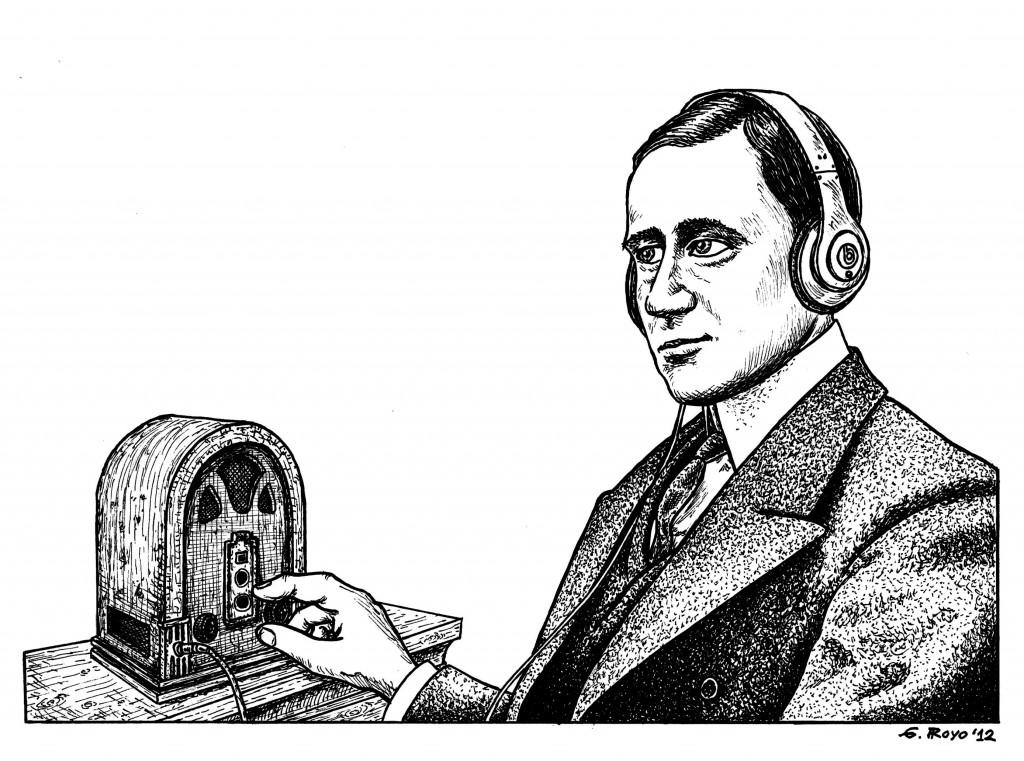 Dibujo de Gonztal Royo para el Fanzine Dibuja la Radio